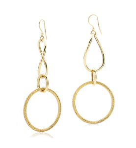 STELLA COLLECTION GOLD EARRINGS - SAPPHIRES