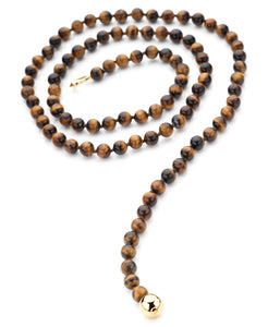 TUCA TUCA COLLECTION TIGER EYE NECKLACE