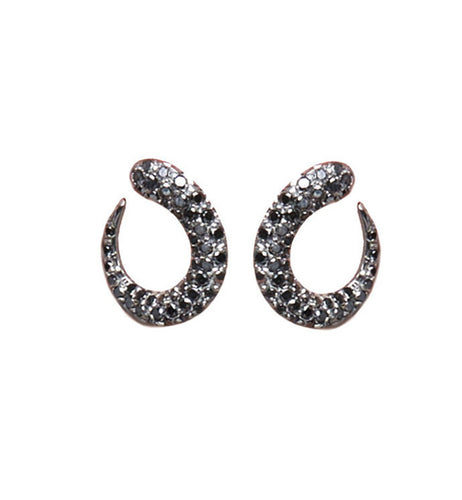 GOCCIOLINE COLLECTION BLACK DIAMONDS EARRINGS - 20mm