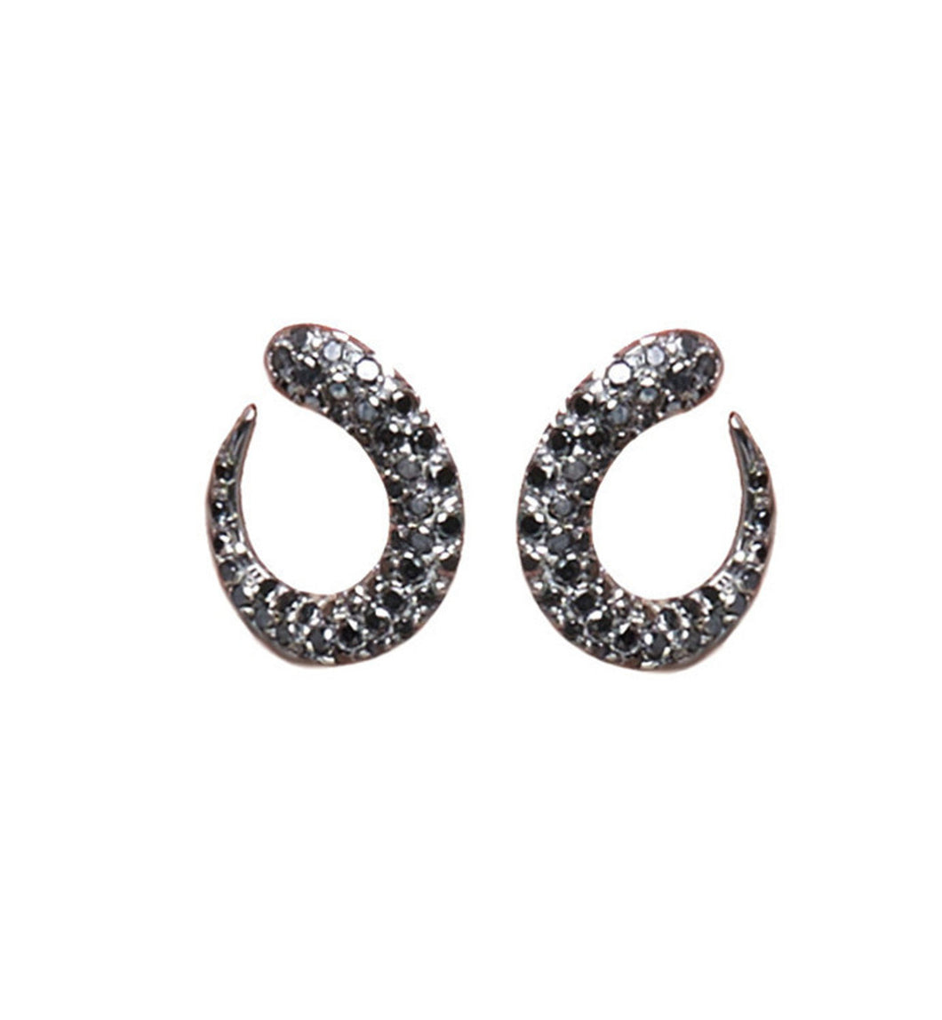 GOCCIOLINE COLLECTION BLACK DIAMONDS EARRINGS - BLACK GOLD