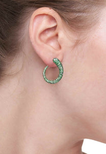GOCCIOLINE COLLECTION TSAVORITE EARRINGS - BLACK RHODIUM