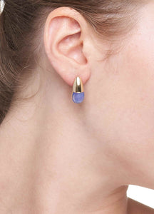 GOCCE COLLECTION EARRINGS - BLUE AGATE