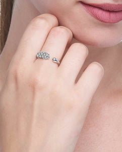 GOCCIOLINE COLLECTION WHITE DIAMONDS RING - WHITE GOLD