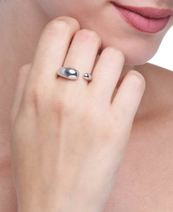 GOCCE COLLECTION RING - WHITE GOLD