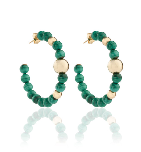 BARBARELLA COLLECTION EARRINGS MALACHITE