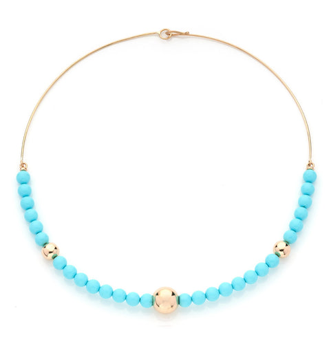 BARBARELLA COLLECTION RIGID NECKLACE - TURQUOISE