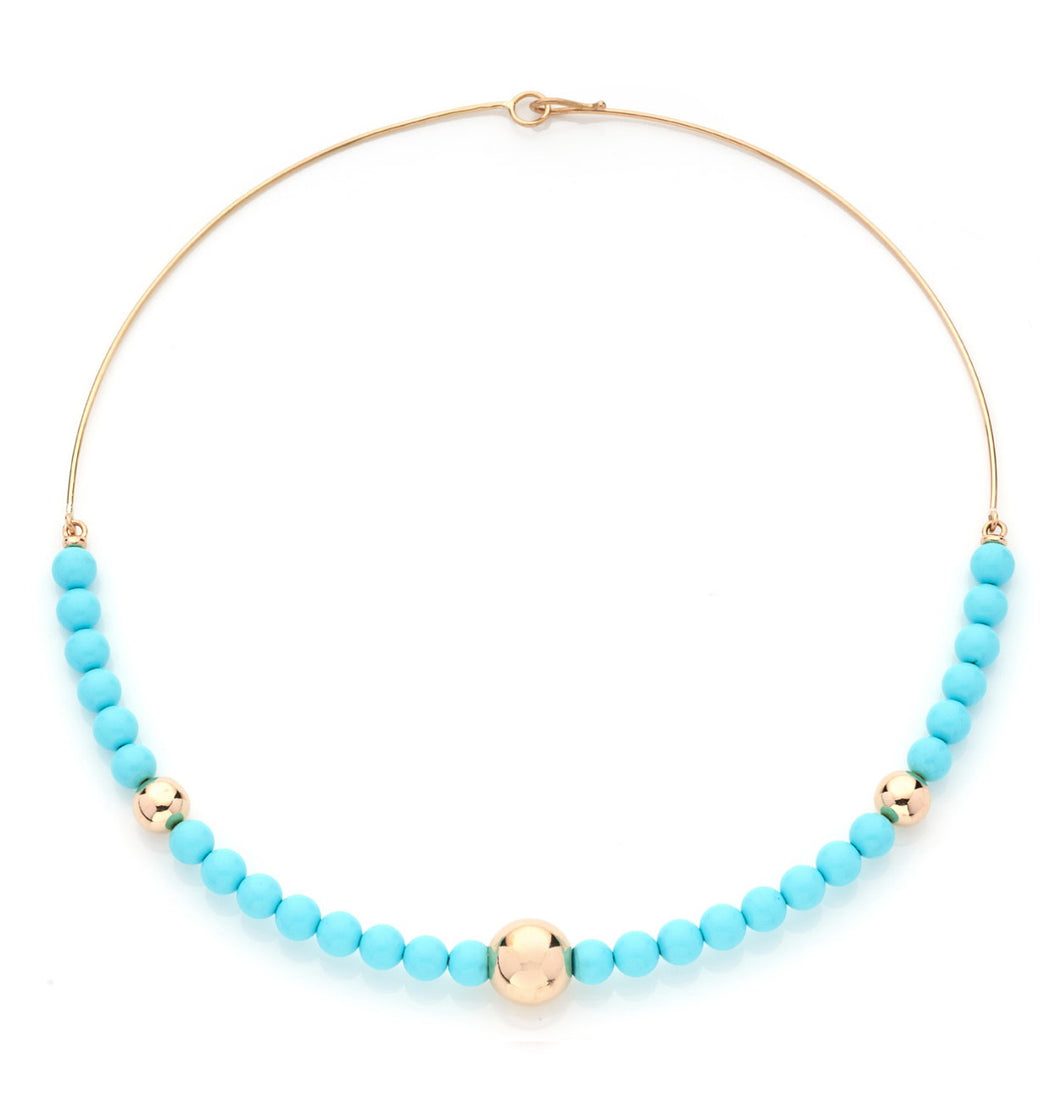 BARBARELLA COLLECTION SEMI-RIGID NECKLACE - TURQUOISE