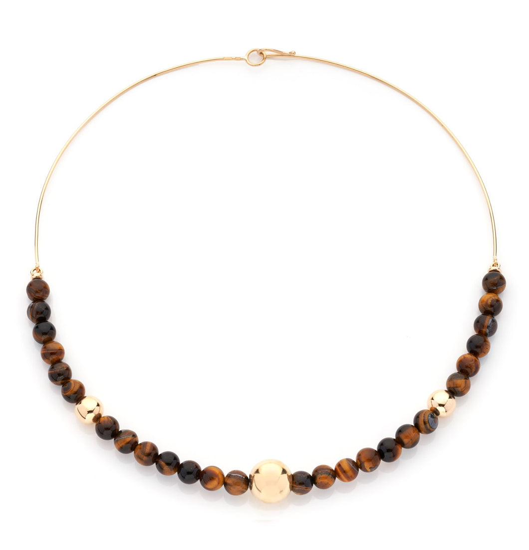 BARBARELLA COLLECTION RIGID NECKLACE - TIGER EYE