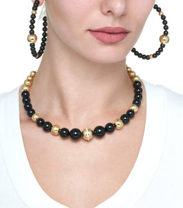 BARBARELLA COLLECTION NECKLACE ONYX