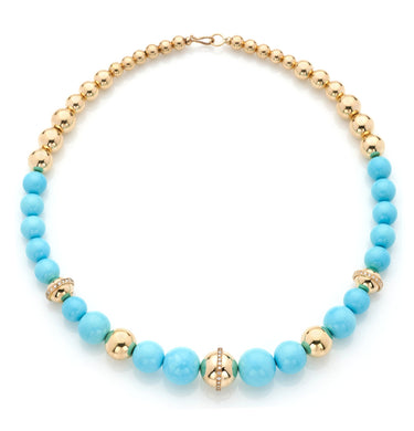 BARBARELLA COLLECTION NECKLACE - TURQUOISE