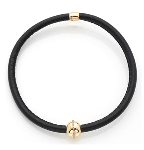 BARBARELLA COLLECTION NECKLACE - BLACK LEATHER