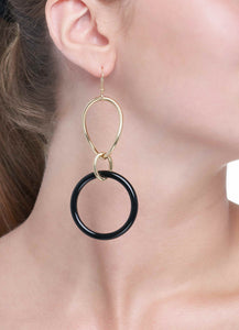 STELLA COLLECTION - 18KT GOLD - ONYX LINKS LARGE
