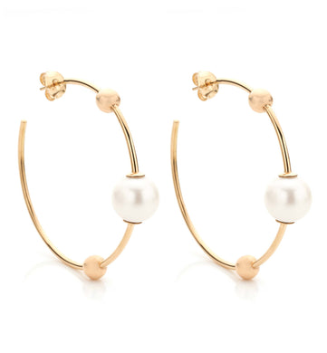 BARBARELLA COLLECTION GOLD EARRINGS - PEARL