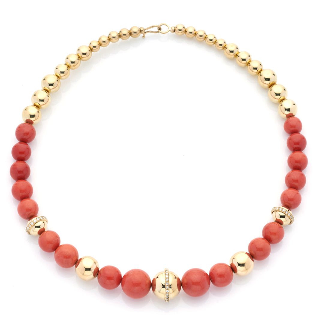 BARBARELLA COLLECTION NECKLACE - MEDITERRANEAN CORAL