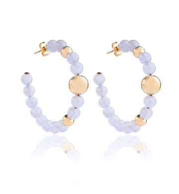 BARBARELLA COLLECTION EARRINGS - CHALCEDONY