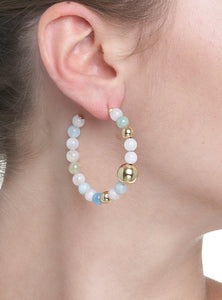 BARBARELLA COLLECTION EARRINGS - AQUAMARINE BERYL