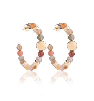 BARBARELLA COLLECTION EARRINGS - RUTILATD QUARTZ