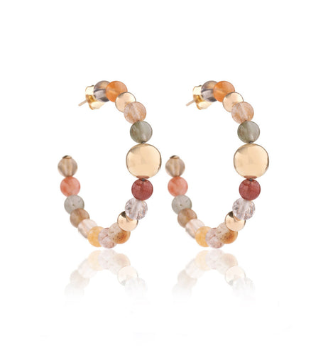BARBARELLA COLLECTION EARRINGS - RUTILATED QUARTZ