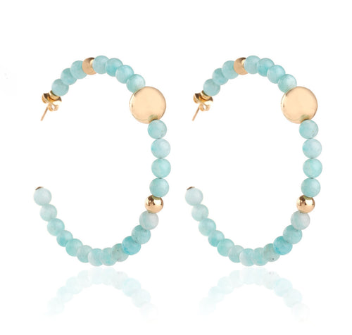 BARBARELLA COLLECTION EARRINGS - AMAZONITE