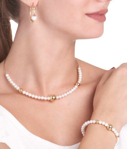 BARBARELLA COLLECTION  NECKLACE - 6mm PEARL