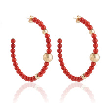 Load image into Gallery viewer, BARBARELLA COLLECTION EARRINGS - MEDITERRANEAN CORAL