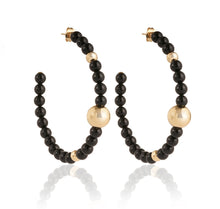 Load image into Gallery viewer, BARBARELLA COLLECTION EARRINGS - ONYX