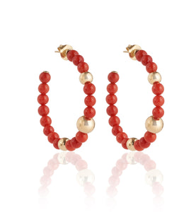 BARBARELLA COLLECTION EARRINGS - MEDITERRANEAN CORAL