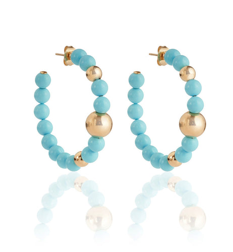 BARBARELLA COLLECTION EARRINGS - TURQUOISE