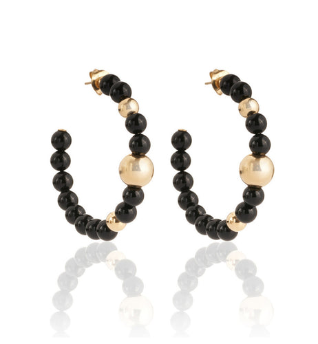 BARBARELLA COLLECTION EARRINGS - ONYX