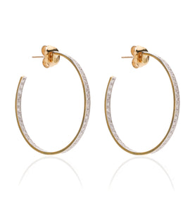 BARBARELLA COLLECTION 18KT GOLD AND DIAMONDS EARRINGS