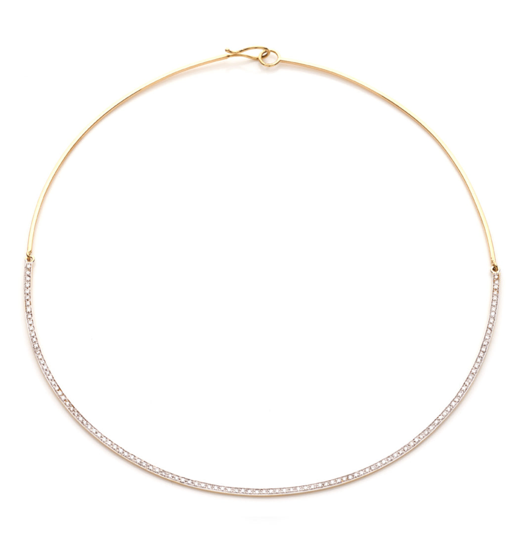 BARBARELLA COLLECTION 18KT GOLD AND DIAMONDS NECKLACE
