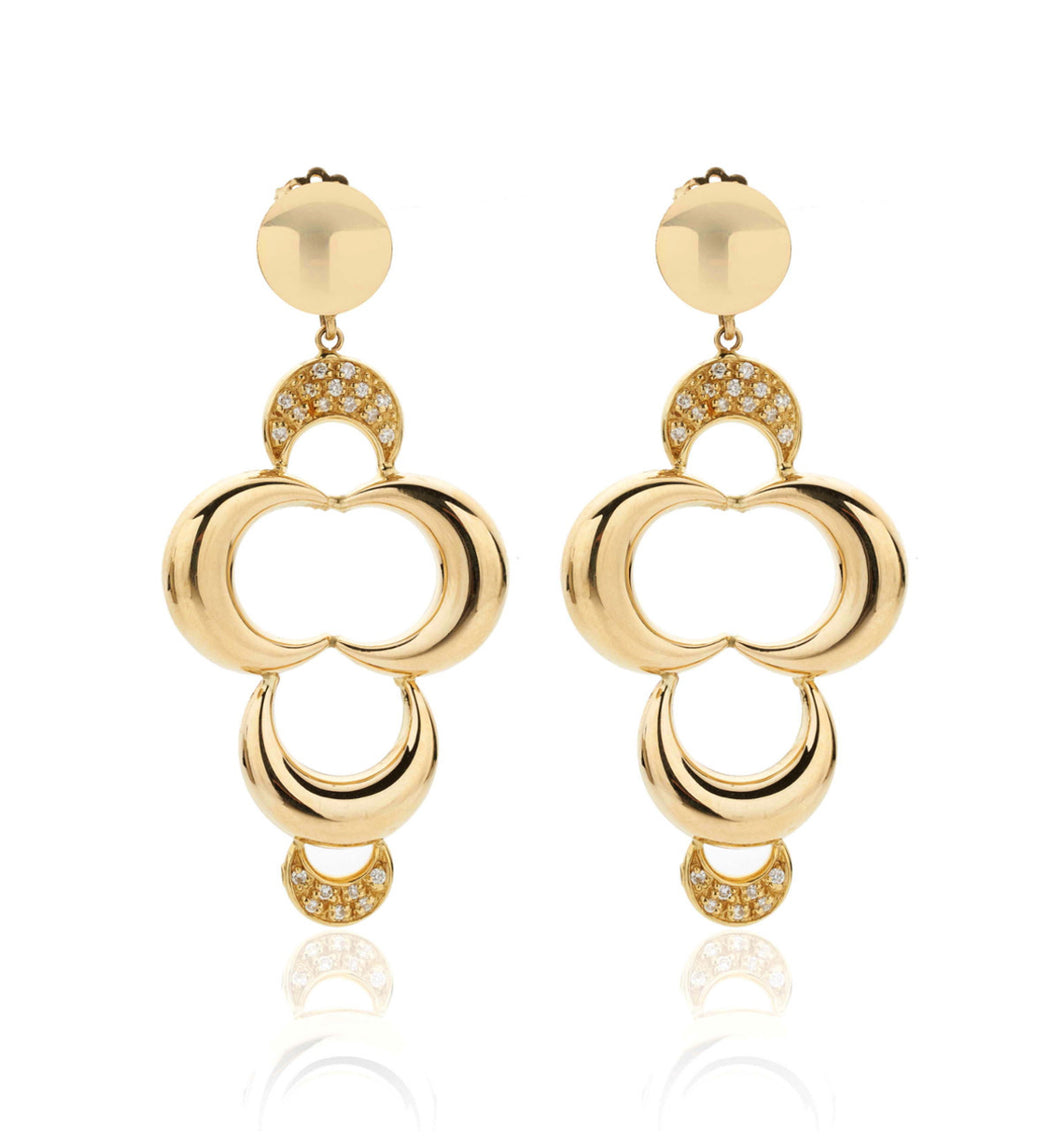 LUNETTE COLLECTION 18KT GOLD EARRINGS