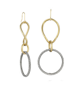 STELLA COLLECTION GOLD EARRINGS - WHITE DIAMONDS