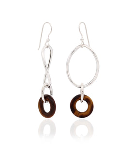 STELLA COLLECTION - STERLING SILVER - TIGER EYE LINKS