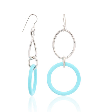 STELLA COLLECTION - STERLING SILVER - TURQUOISE LINKS LARGE