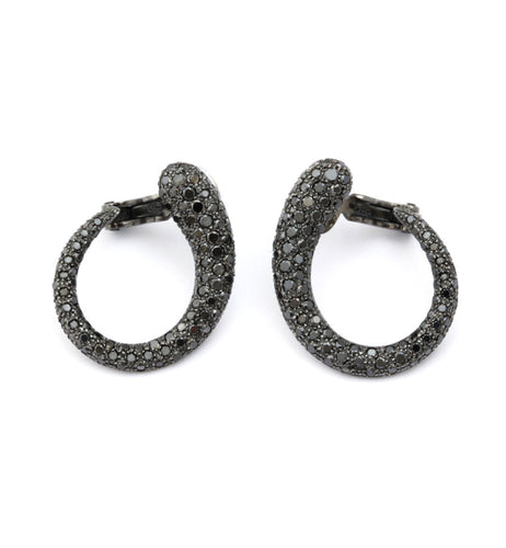 GOCCIOLINE COLLECTION BLACK DIAMONDS EARRINGS - 30mm
