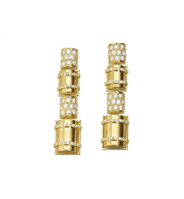 THE BULLET COLLECTION 18KT GOLD EARRINGS