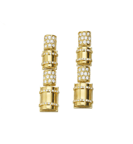 THE BULLET COLLECTION GOLD EARRINGS