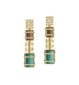 THE BULLET COLLECTION 18KT GOLD EARRINGS - MULTISTONE