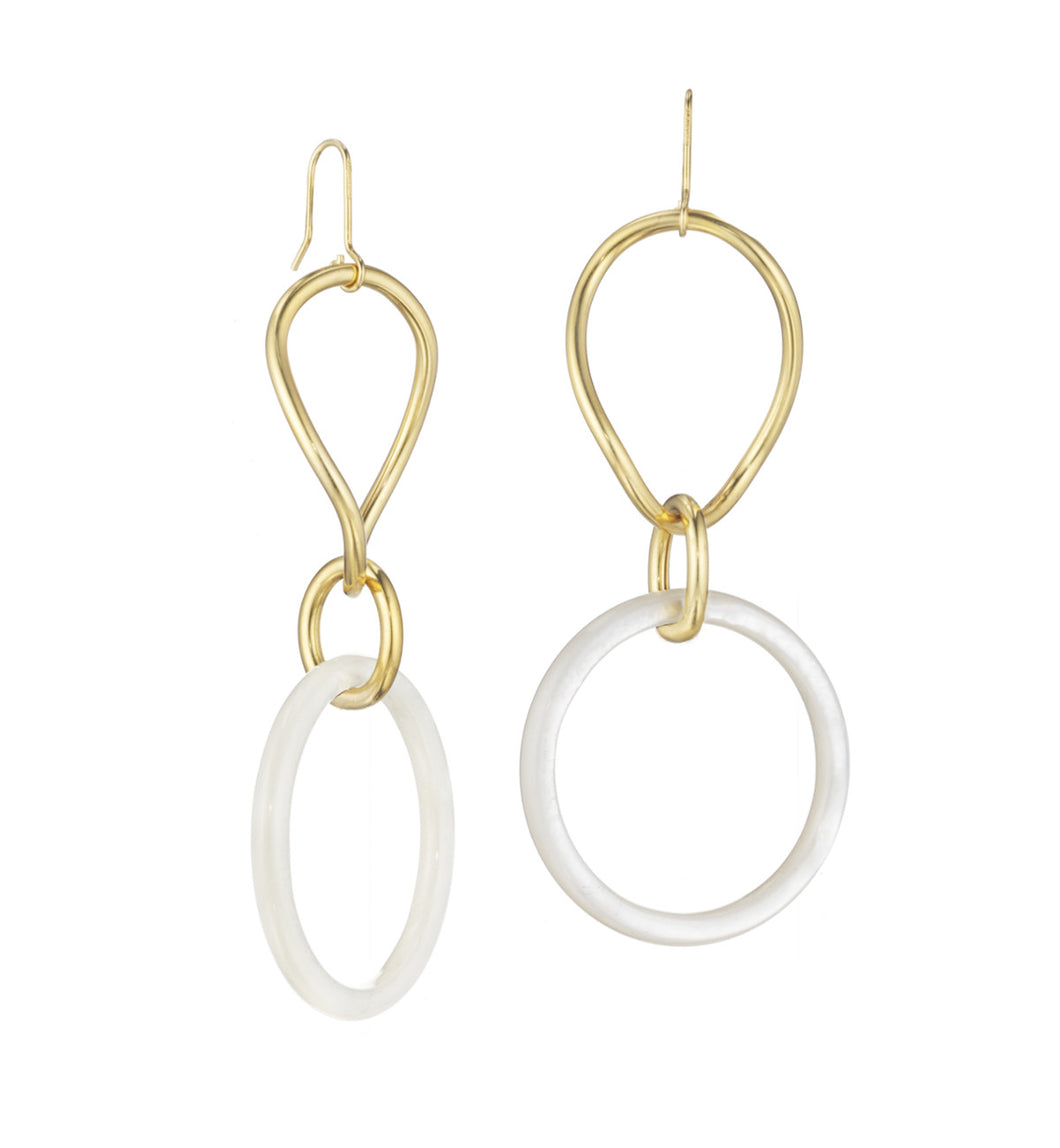 STELLA COLLECTION - 18KT GOLD - MOTHER OF PEARL LINKS LARGE