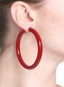 BARBARELLA COLLECTION - 18KT GOLD - STERLING SILVER - LARGE - CORAL RED