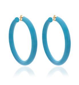 BARBARELLA COLLECTION - 18KT GOLD - STERLING SILVER - LARGE - TURQUOISE