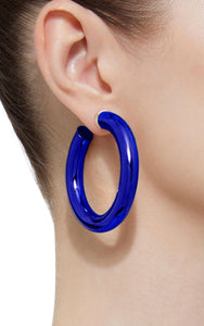 BARBARELLA COLLECTION - 18KT GOLD - STERLING SILVER - MEDIUM - COBALT BLUE