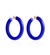 Load image into Gallery viewer, BARBARELLA COLLECTION - 18KT GOLD - STERLING SILVER - MEDIUM - COBALT BLUE