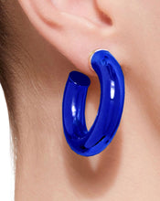 Load image into Gallery viewer, BARBARELLA COLLECTION - 18KT GOLD - STERLING SILVER - SMALL - COBALT BLUE