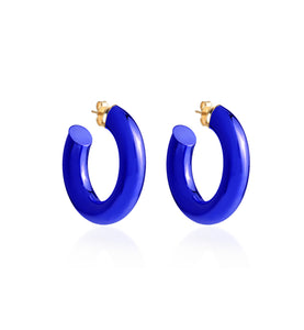 BARBARELLA COLLECTION - 18KT GOLD - STERLING SILVER - SMALL - COBALT BLUE