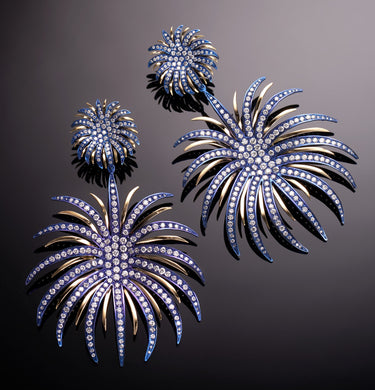 FIREWORKS - 18KT YELLOW GOLD - BLUE TITANIUM