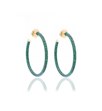 HOOP EARRINGS - TSAVORITE - SMALL