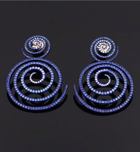 "Load image into Gallery viewer, ""KALEIDOSCOPE OF HOPE"" - BLUE SAPPHIRES - EARRINGS"
