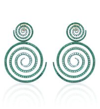 "Load image into Gallery viewer, ""KALEIDOSCOPE OF HOPE"" - TSAVORITE - EARRINGS"